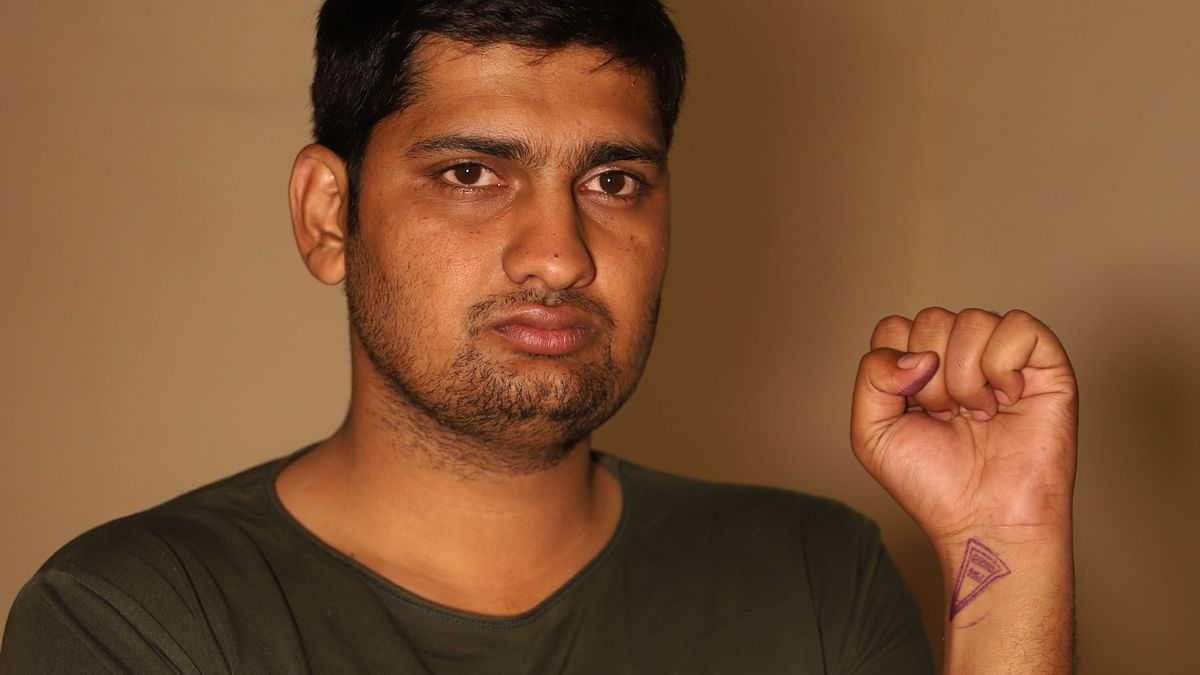 Mandeep scribbled notes on his arms and legs while he was in Tihar Jail