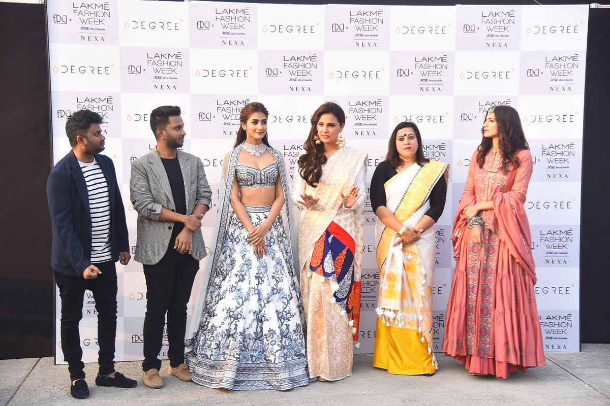 In Pics: Pooja Hegde, Lara Dutta Bhupathi, Hina Khan grace the ramp at FDCI X Lakme Fashion Week 2021