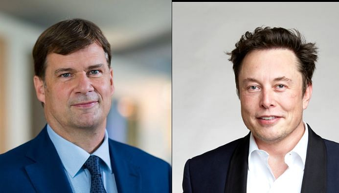 Ford CEO Jim Farley and Tesla's Elon Musk