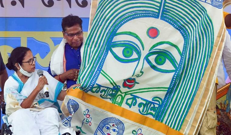 Mamata Banerjee at a rally in West Bengal