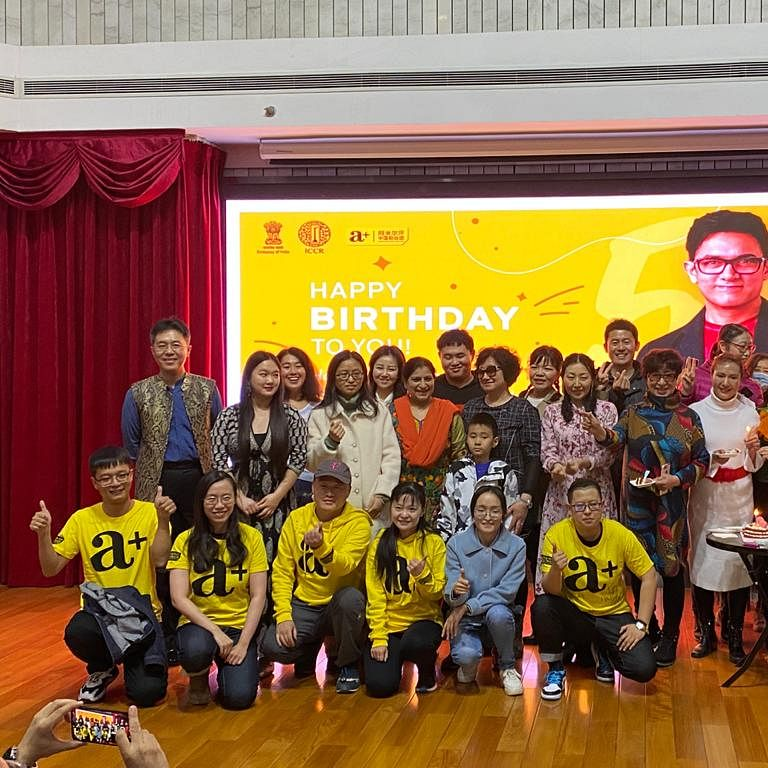 Aamir Khan's Chinese fans celebrate his 56th birthday at Indian Embassy in Beijing; see pics