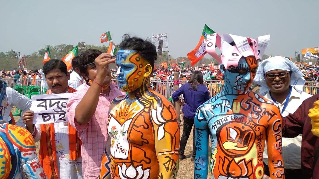 West Bengal Polls: Roar of 'Jai Shri Ram' and 'Khela Hobe' echo at Brigade Parade Ground amid PM Modi's rally