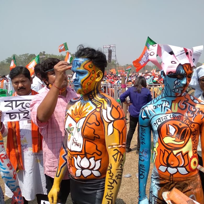 West Bengal Polls: Roar of 'Jai Shri Ram' and 'Khela Hobe' echo at Brigade Parade Ground amid PM Modi's rally