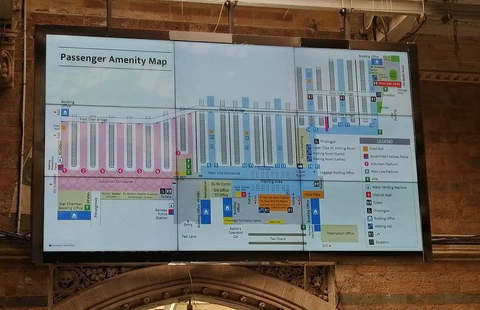 Central Railway installs digital passenger amenity maps at 18 stations of Mumbai Division