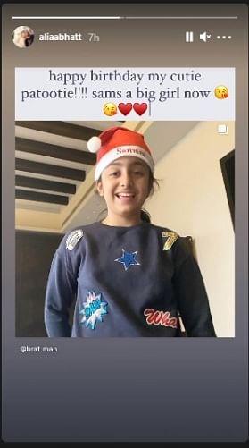 Alia Bhatt wishes beau Ranbir Kapoor's niece Samara on her birthday - check out adorable post