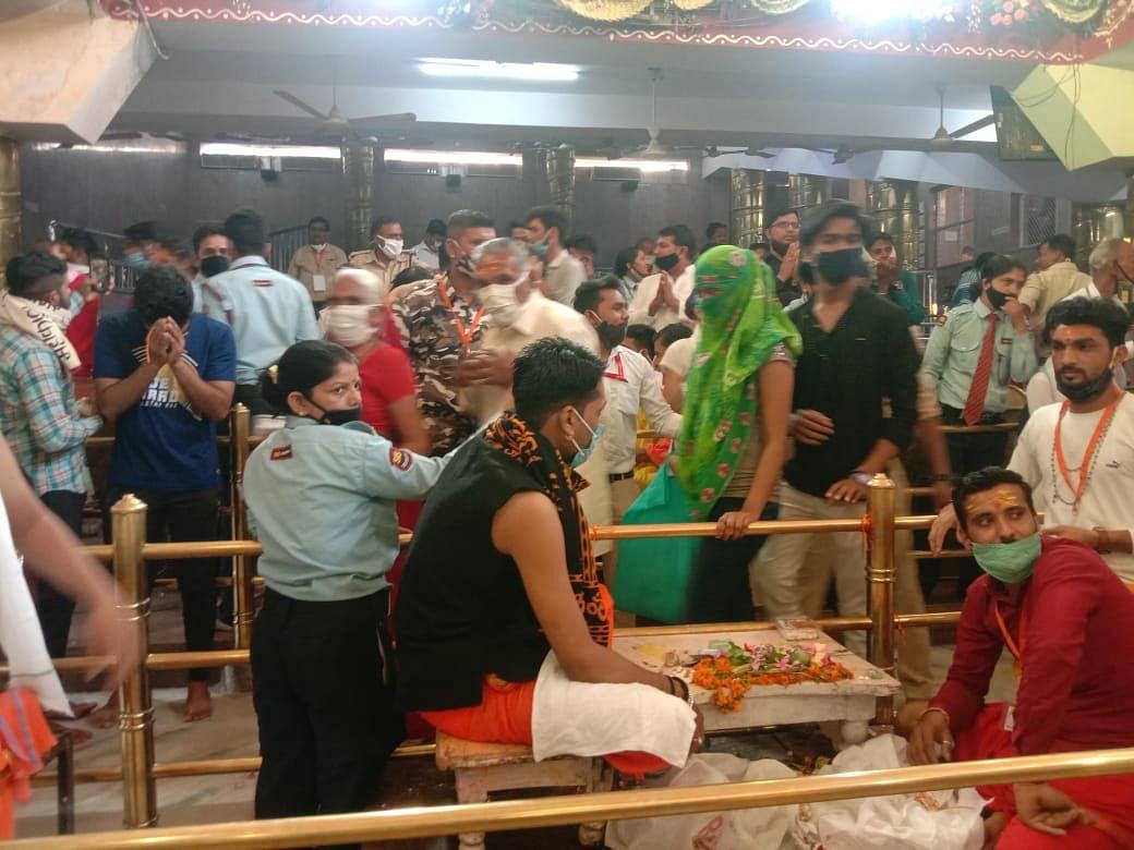 Madhya Pradesh: With all Coivd norms at place, Bhasmarti done at the Mahakaleshwar Temple Ujjain on Mahashivratri