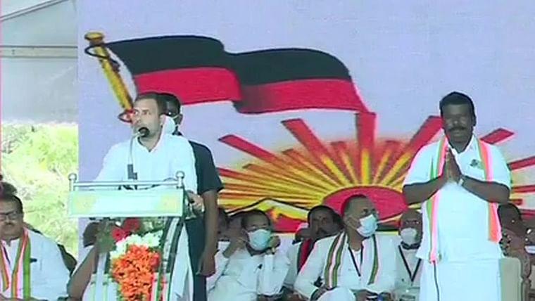 PM Modi controlling Tamil Nadu CM, making him touch his feet silently: Rahul Gandhi in Chennai