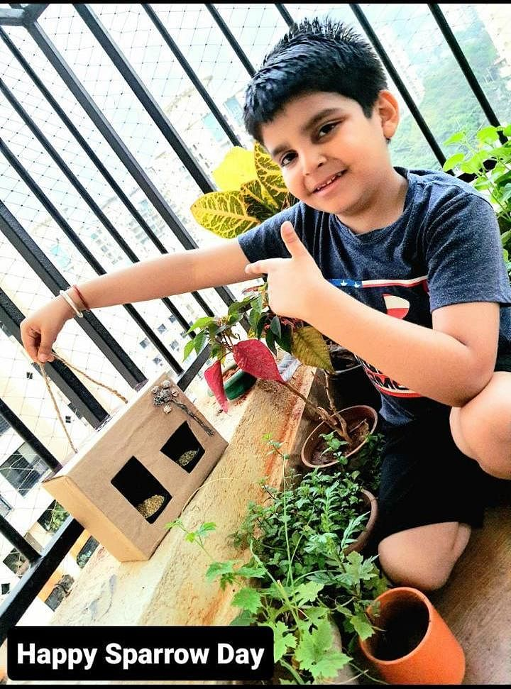 A young participant