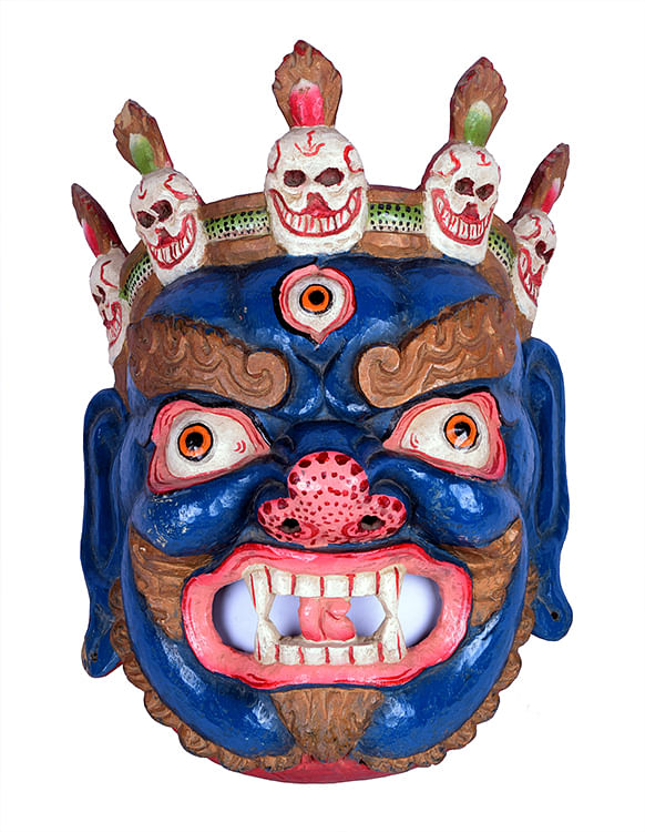 Full view of tribal mask
