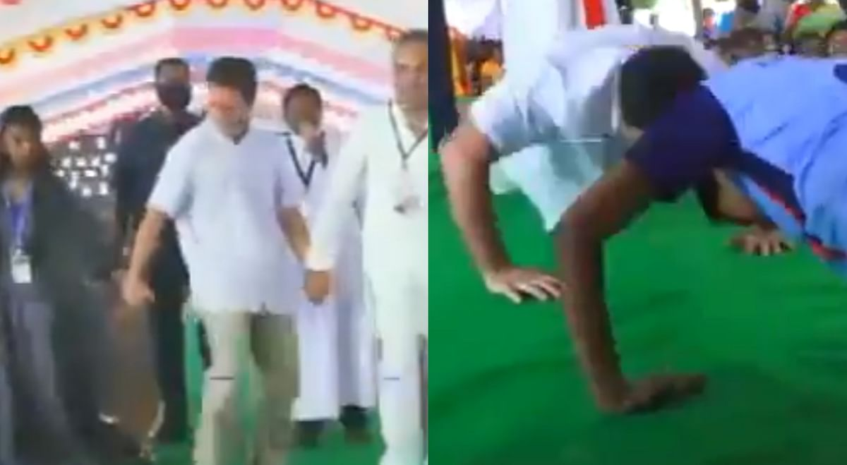 From grooving with students to doing push-ups: Watch video from Rahul Gandhi's fun day in poll-bound Tamil Nadu