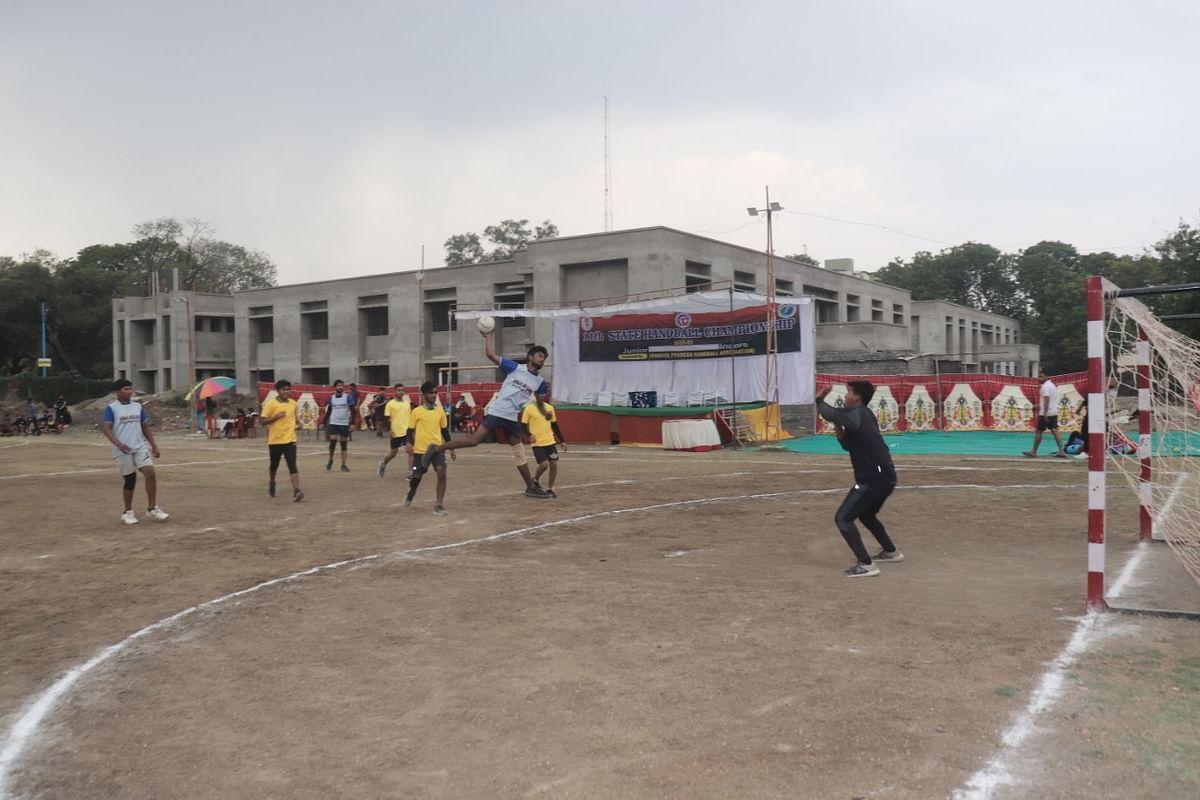 Handball match in Indore on Friday