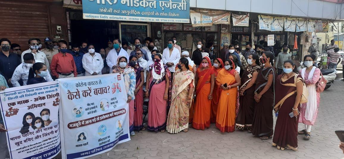 Madhya Pradesh: Emergency meetings held, rallies taken out in Sardarpur, mask made mandatory to resolve Corona