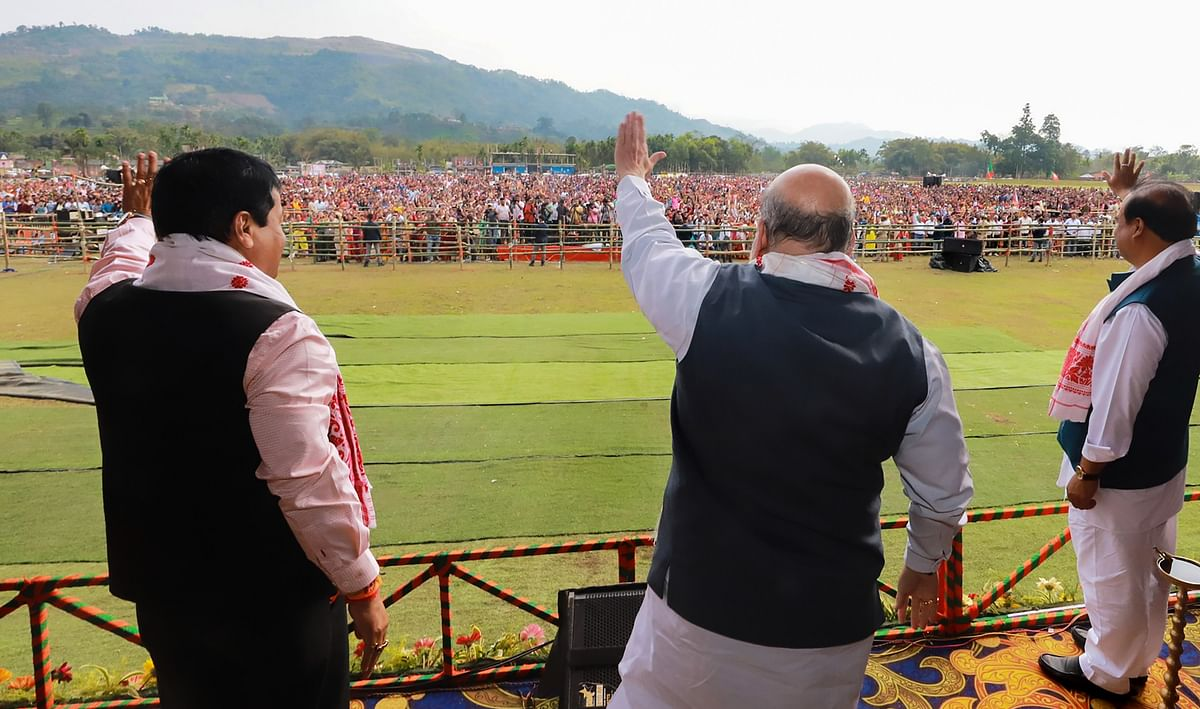 Cong allying with outfits that wish to divide nation: Shah at rally in Assam