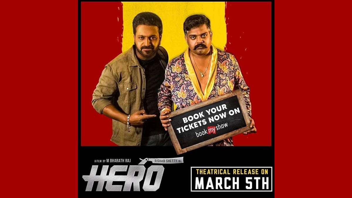 Pramod Shetty as a powerful villain in Rishab Shetty's 'Hero'