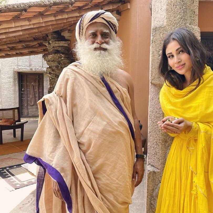 After meeting Sadhguru, Mouni Roy visits Isha Home School; see pics