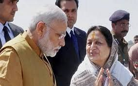 Former mayor Malini Gaud with Prime Minister Narendra Modi
