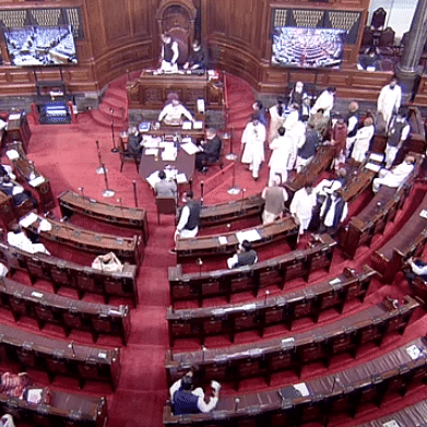 Rajya Sabha adjourned till 11 am as Congress MPs raise slogans demanding discussion over rise in fuel prices