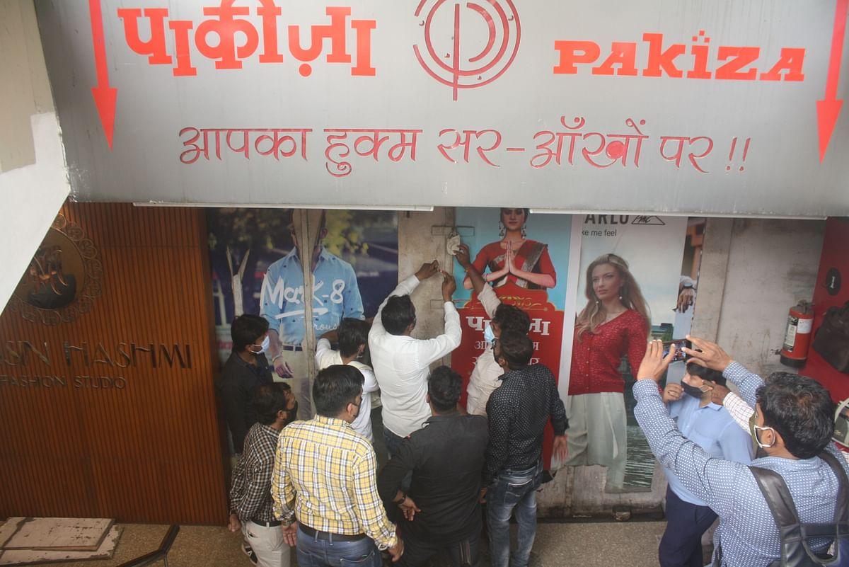 Indore: IMC seals shops breaking Covid SOPs