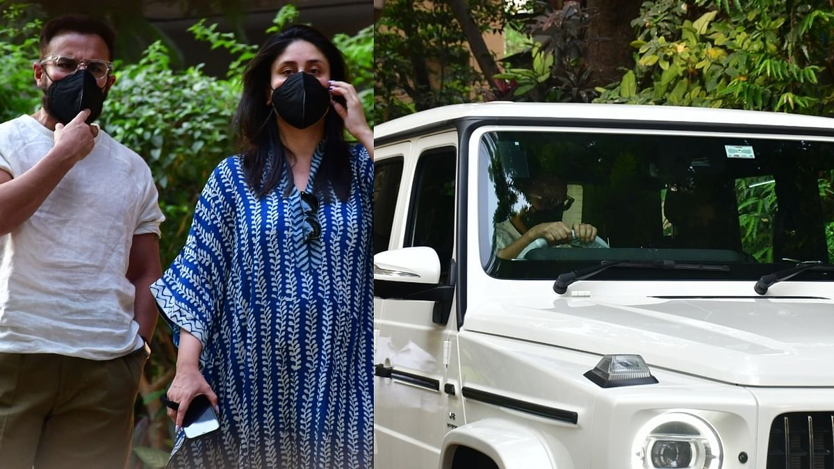 After welcoming second baby, Kareena and Saif test drive Rs 2.8 cr Mercedes SUV outside their home