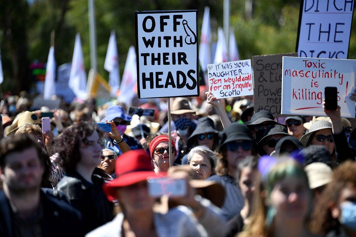 Women march across Australia against sexual violence