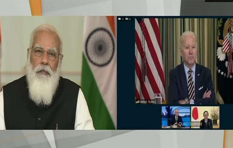 'PM Modi, it's great to see you': Watch US President Joe Biden's friendly gesture at Quad Summit