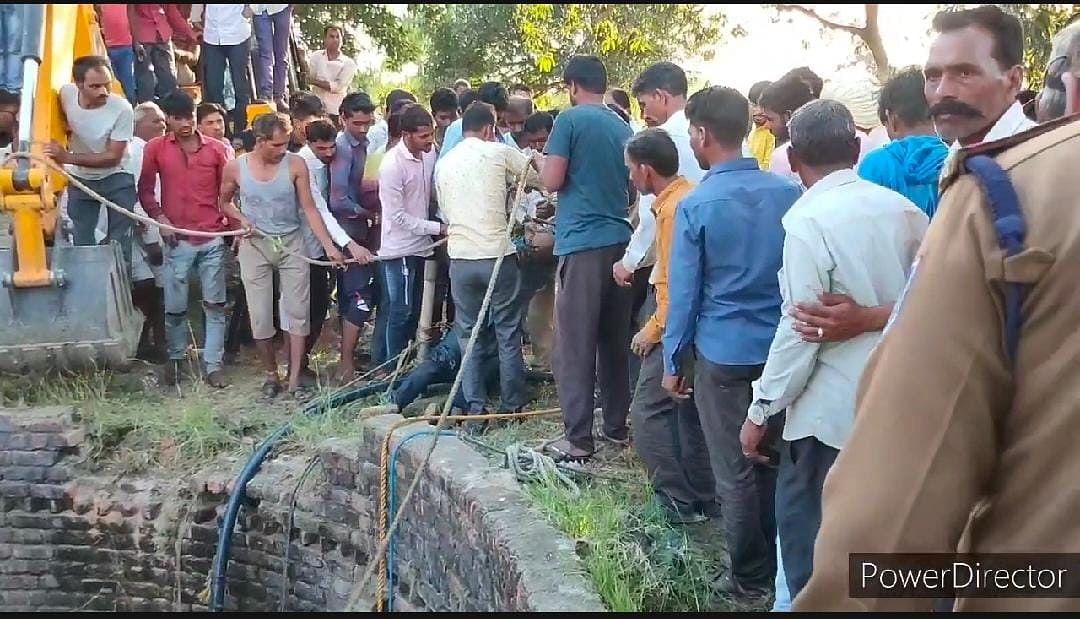 Rescue work in Alot tehsil
