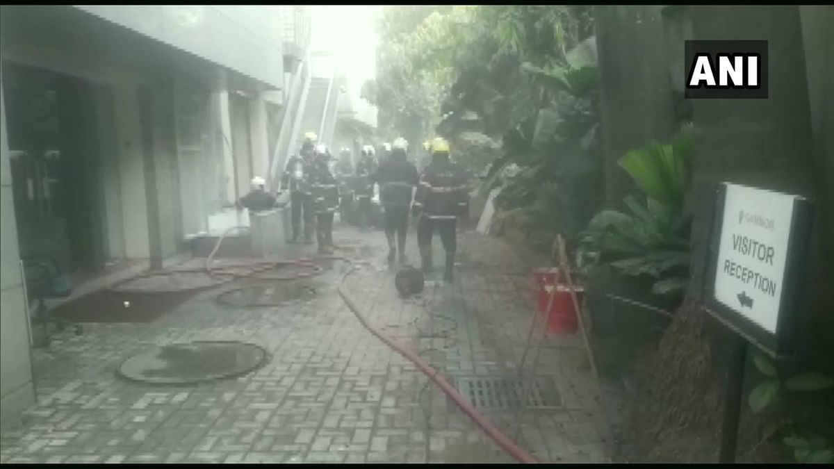 Mumbai: Fire breaks out at godown of electric wires in Prabhadevi area, two firemen injured