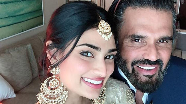 Athiya reacts to father Suniel Shetty's hilarious throwback pic, latter calls her 'goondi'