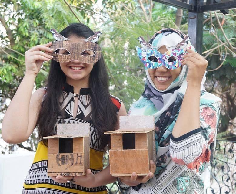 Participants with nest boxes