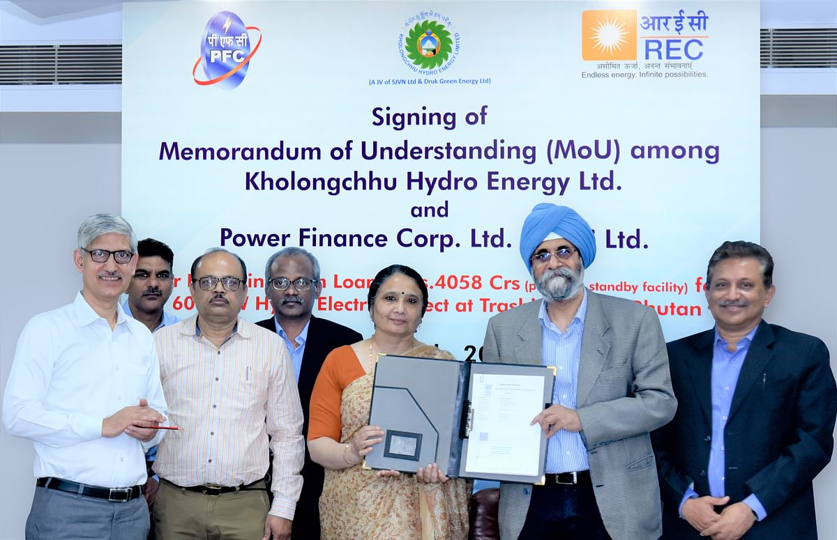 REC, PFC sign pact to finance hydropower project in Bhutan