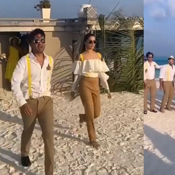 Watch: Shraddha Kapoor turns 'best man' for cousin Priyaank Sharma's wedding in Maldives