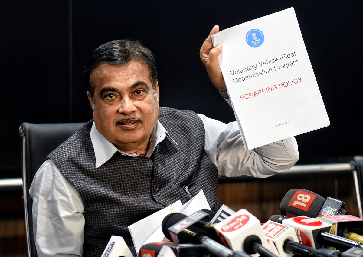 Scrapping of old vehicles from April 1; no toll booths after a year: Nitin Gadkari
