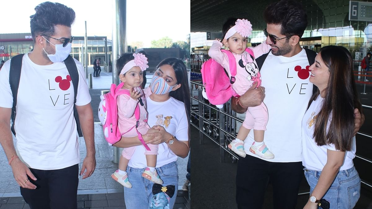 Jay Bhanushali, Mahhi Vij trolled for leaving their adoptive kids at home and travelling with daughter Tara