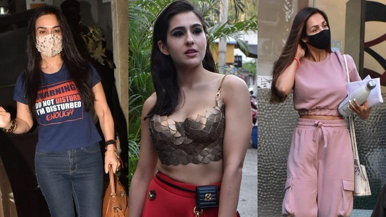 Celebrity Spotting: Preity Zinta, Malaika Arora, Sara Ali Khan and others clicked by shutterbugs in Mumbai; see pics