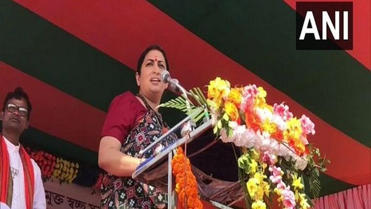 TMC bhagao, BJP lao, Bangla bachao: Smriti Irani coins slogan for West Bengal polls