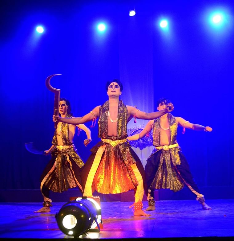 A scene from a dance drama 'Meera – Ek Bhakti Gatha,' being staged at the Shaheed Bhawan in the city on Monday evening