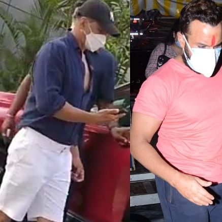 Celebrity Spotting: Akshay Kumar, Saif Ali Khan, Sanjay Dutt and others captured by paps in Mumbai