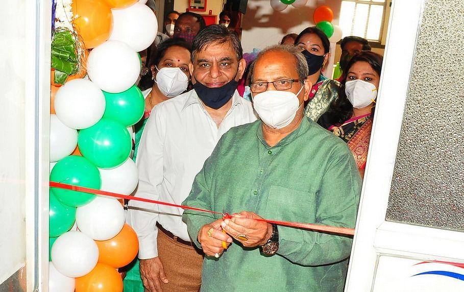MLA Paras Jain inaugurates the lab in Charak Hospital