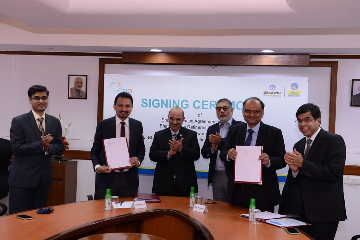 BPCL acquires OQ's full stake in Bharat Oman Refineries Limited