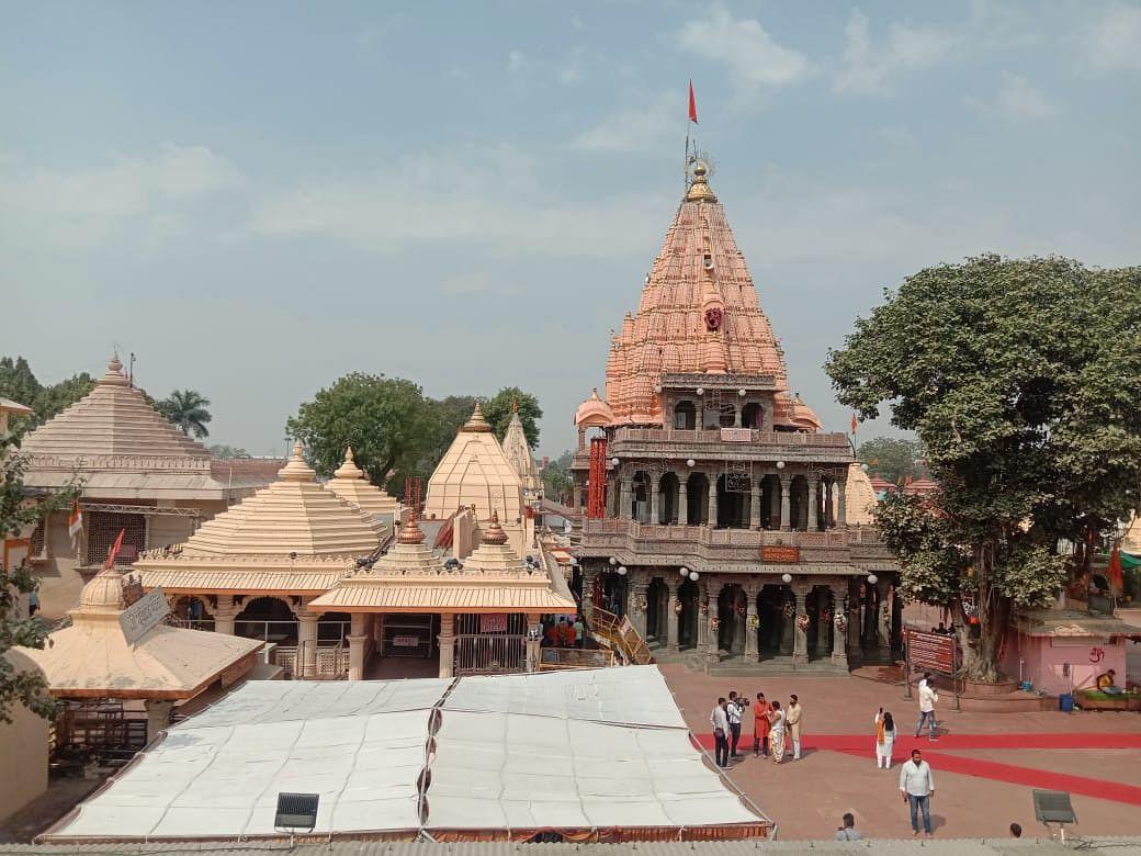 Mahakaleshwar Temple's courtyard almost wears a deserted look