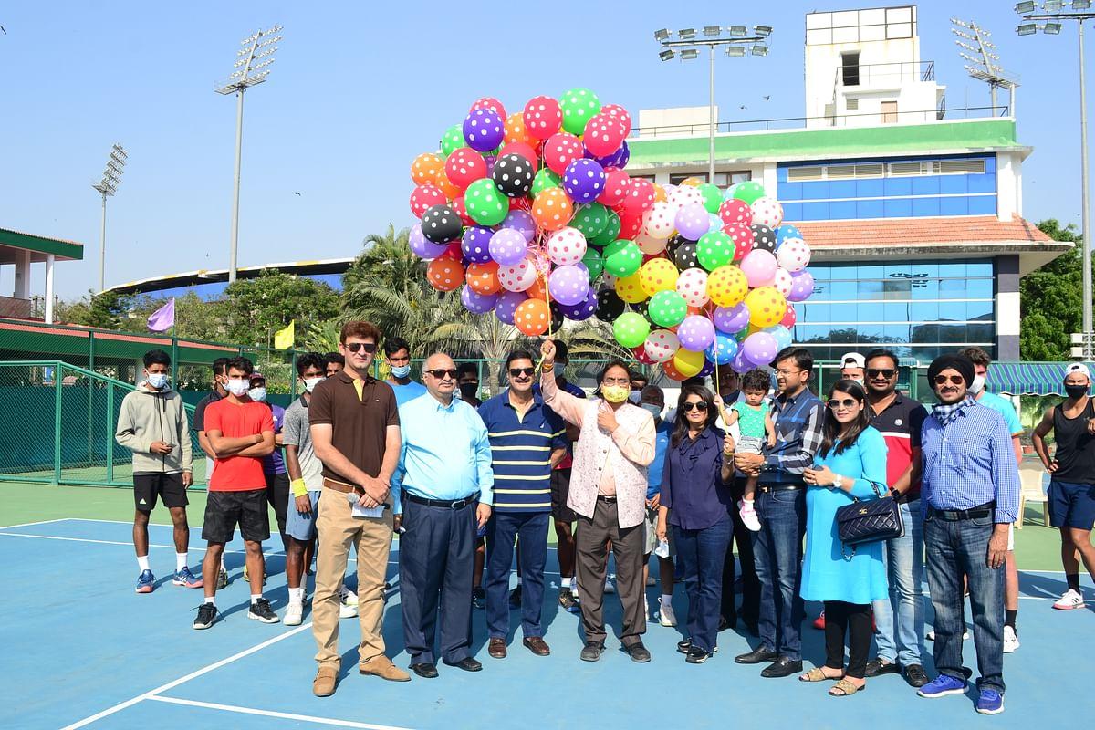 Celebrations: Punit Agarwal Memorial Indore Open $15,000 prize ITF men's world tennis tour tournament
