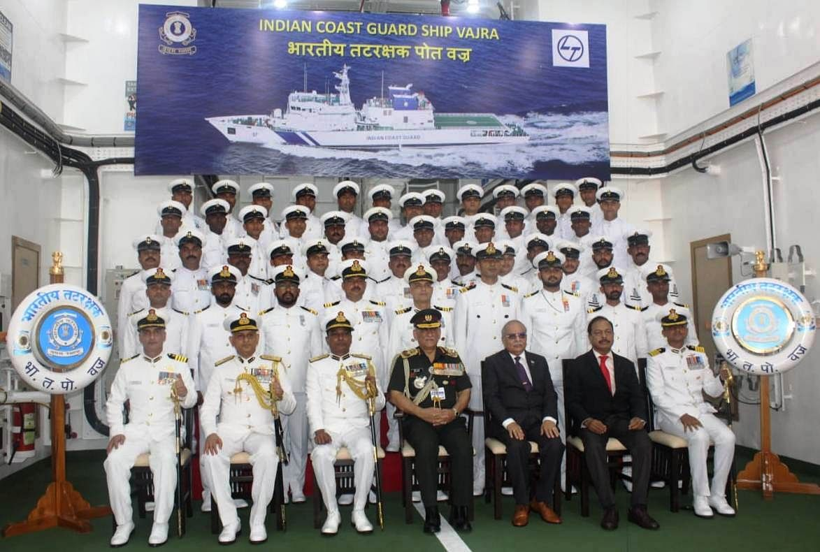 Indian Coast Guard Ship 'Vajra' commissioned