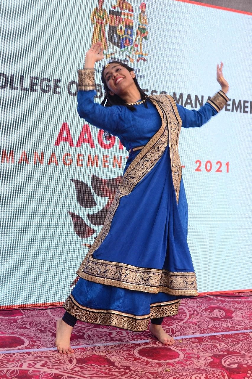 A student performing at the fest
