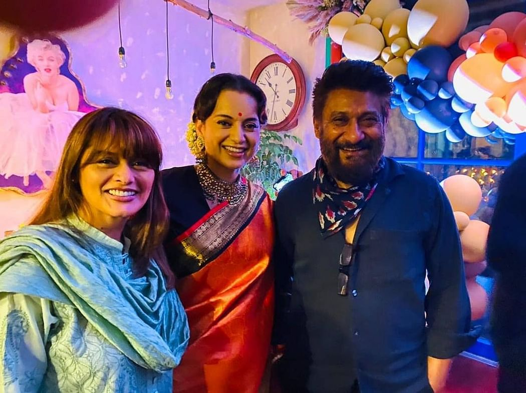Kangana with Pallavi and Vivek