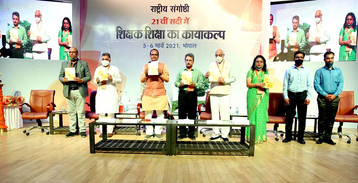 Madhya Pradesh Chief Minister Shivraj Singh Chouhan inaugurates a seminar on education at the RCVP Noronha Academy of Administration on Friday.