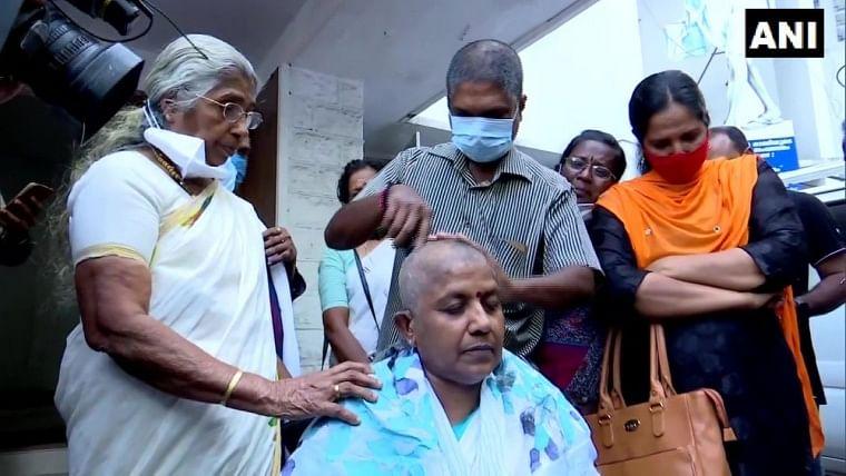 Kerala Assembly polls: Mahila Congress leader Lathika Subhash denied ticket, tonsures head in protest