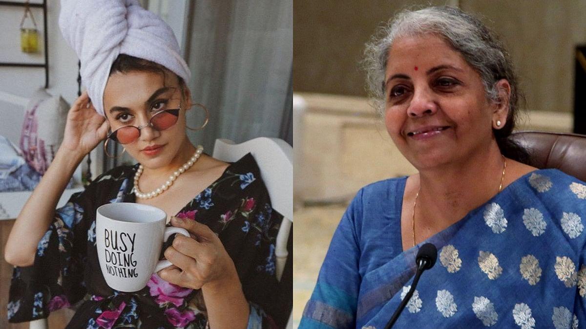 Taapsee Pannu takes a dig at FM Nirmala Sitharaman in first tweet post I-T raid