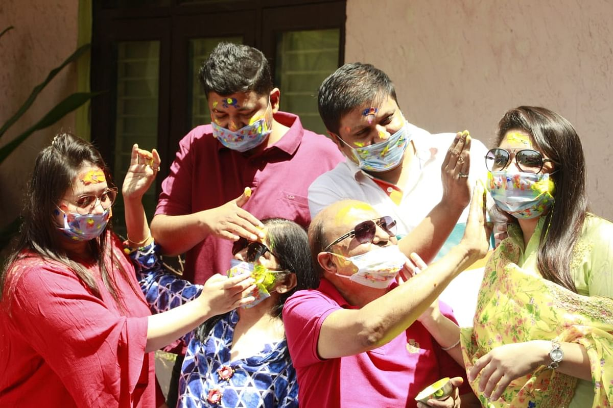 Holi with family in Indore