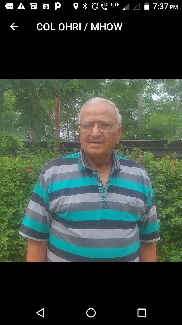 Indore: Former 10 Mahar Commanding Officer Colonel PC Ohri passes away, regiment pays honours