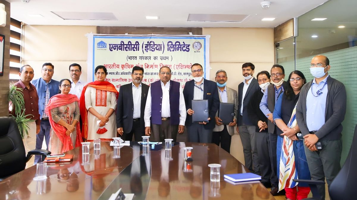 NBCC and ALIMCO signs MOU to contribute Rs.100.62 lakh under its CSR initiative